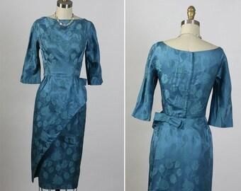 Vintage 1950s 50s PAT SANDLER l Vixen Pin Up Party Dress S