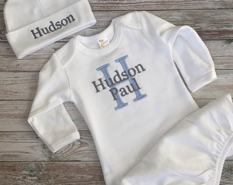 personalized boy set, perfect COMING HOME outfit or gift