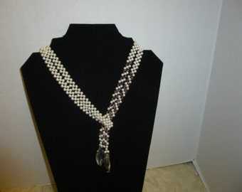 Swarovski Pearls and Crystal Necklace Lariat