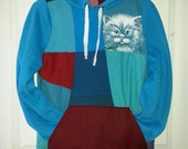 Kitty Hoodie in Turquoise - Smallish