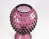 RESERVED Purple Hobnail Glass Ivy Bowl by Duncan Miller