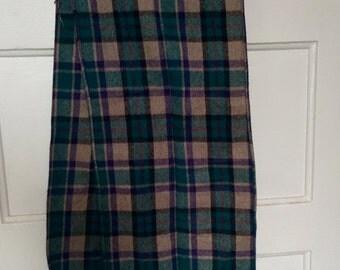 SALE heavy plaid tartan scarf 1980s men women grunge normcore winter muffler