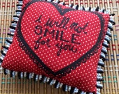 I Will NOT Smile for You, Heart Mini Pillow