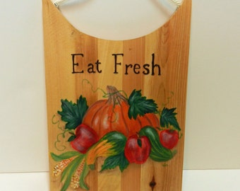 Eat Fresh Hand Painted Decorative Cutting Board