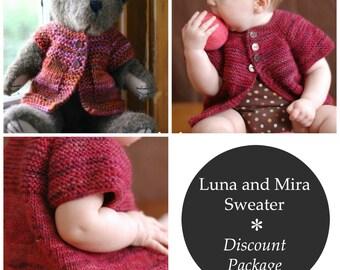 KNITTING PATTERN - Luna and Mira Sweater