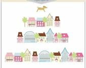 ON SALE Clip art. house, house-season change , INSTANT Download