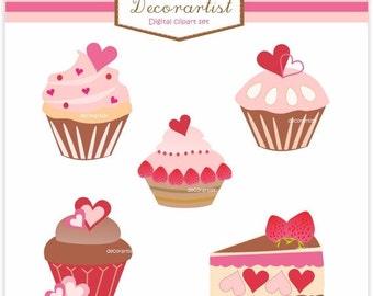 ON SALE cupcake clip art,Digital clip art cupcakes,Sale clip art, cupcake sweety , pink cupcake, valentines day clip art