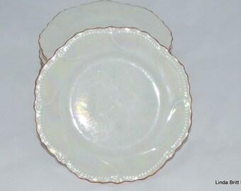 Five LEUCHTENBURG Lusterware Dessert Plates