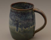 Denim Blue with Indigo Blue Accents Large Mug - Coffee Mug #3