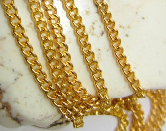 12 ft. Gold chain sm gold curb chain diy jewelry supply twisted gold chain 2mm x 3mm S002y