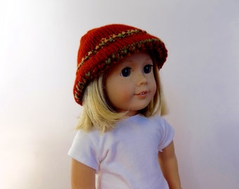 Doll Hat, 18 Inch Doll Clothes, Knit Doll Hat, American Girl Size