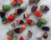 Odd Acorns from recycled fabrics