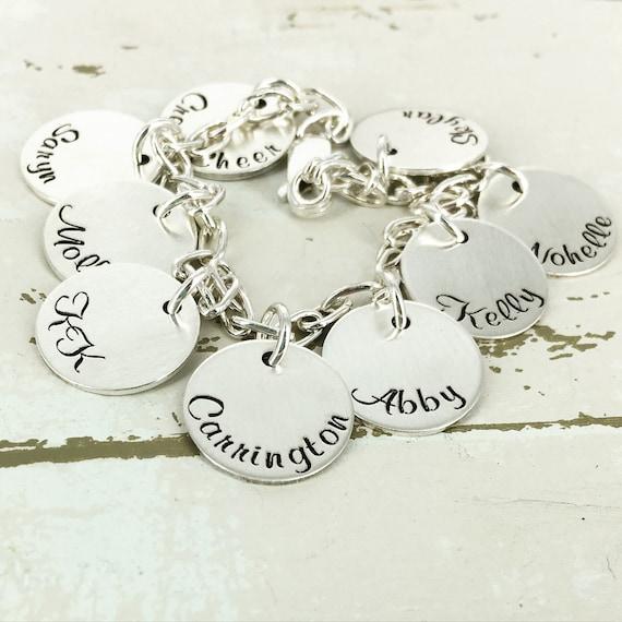 "Personalized 9/16"" name bracelet - Engraved Bracelet - Personalized Bracelet - Personalized Jewelry - Custom charm bracelet"