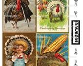 Digital Download Vintage Thanksgiving Postcards