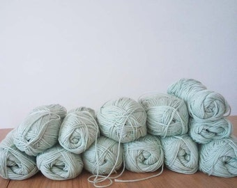 SALE - 12 Organic Yarn Balls - Pastel Green