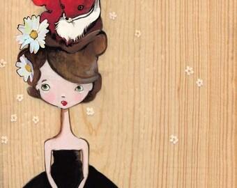 Foxy, Girl Art, Audrey Art Print
