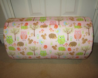 MONOGRAMMED Children THICK COMFY Nap Mat PreSchool Owl and Friends with Attached Honeycomb  Minky Blanket and Pillow
