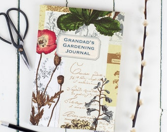 Personalised Garden Journal, bespoke gardening notebook, personalise your text