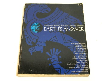 Earth's Answer, Explorations Of Planetary Culture At The Lindisfarne Conferences, Vintage Book