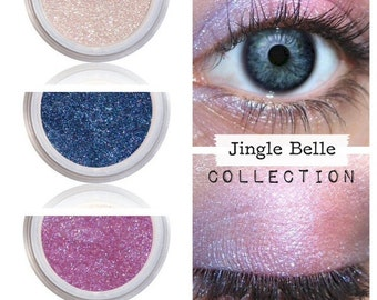 Eyeshadow Kit Palette | JINGLE BELLE | Mix - Match - Layer | Natural Mineral Eye Colors | Natural Eco Pure Organic Better Than MAC Cosmetics