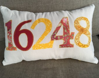 Personalized Made to order Zip Code Pillow
