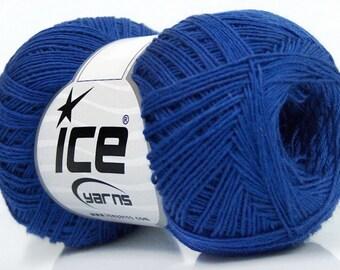 Knitting  yarn, Destash yarn, blue, light fingering, lace weight, Y215
