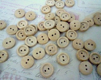 Wood Buttons SMALL 12mm - Pack of 20