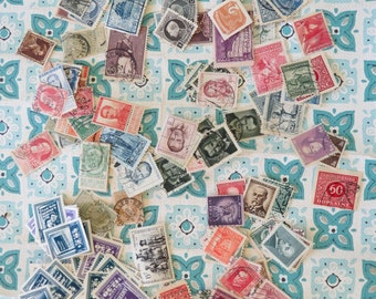 Fun Vintage Lot of Postage Stamps
