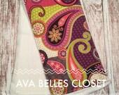 Colorful Paisley Burp Cloth