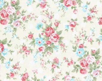 Princess Rose 2015  Large Roses Cotton Fabric Lecien 31265-10 Dots