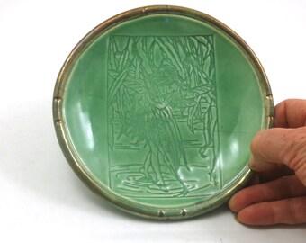 Raku Butterfly Fairy Bowl Pottery Ceramic.
