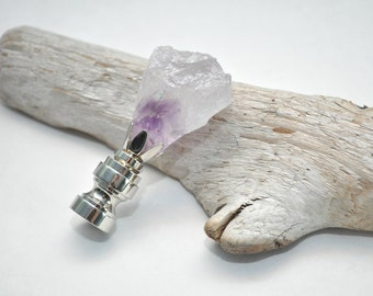 Lamp Finial - Amethyst Crystal