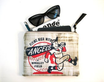 Los Angeles Angels Zipper Clutch Large Pouch