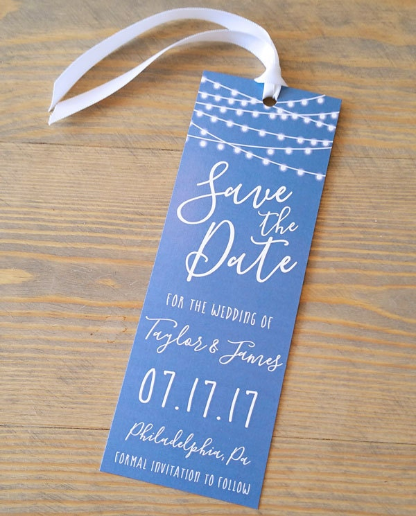 save the date bookmark, save the date bookmarks, bookmark save the ...