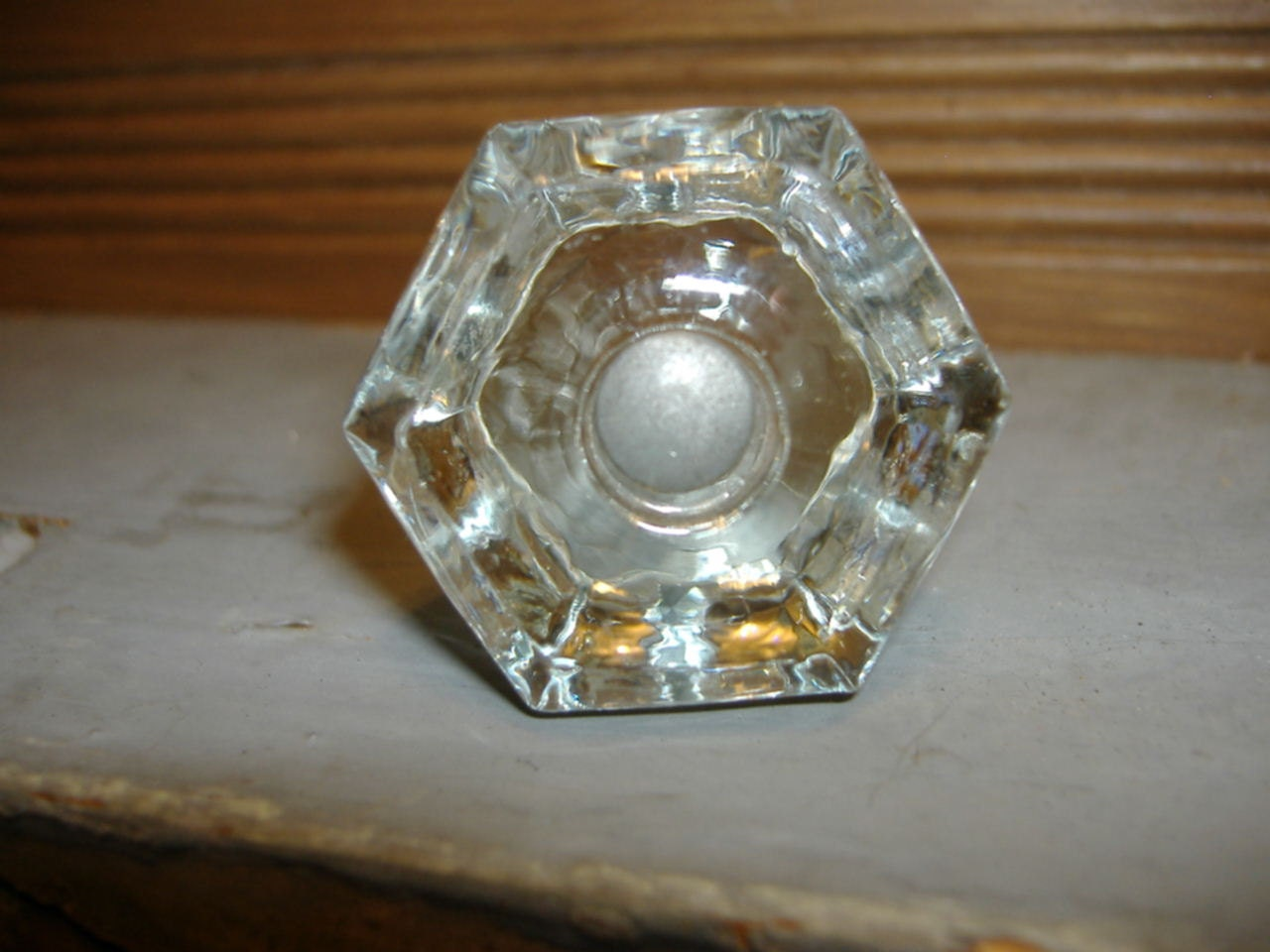 Vintage glass octagon dresser cabinet bureau drawer knobs for Knobs for bureau
