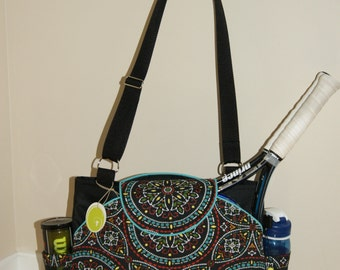 New !!!! Big Sis to Large Tennis Bag with Rounded pockets.Made to Order!