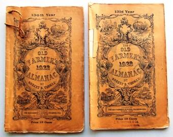 Old Farmer's Almanac 1922 Or 1923