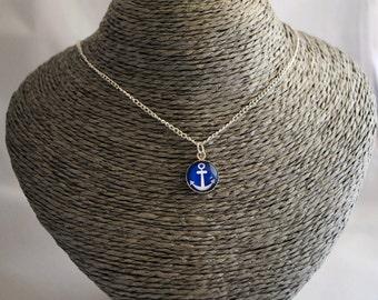 Anchor cameo necklace