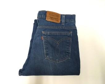 "Vintage Men's 70's Levi's, Brown Tab, Jeans, Medium Wash, Denim (W33"" x L29"")"