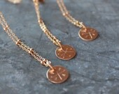 Tiny Gold Coin Necklace, Harbinger of Joy Charm Necklace, MADE TO ORDER