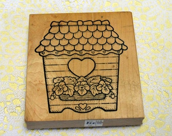 Darcie's Wood Mounted Rubber Stamp