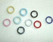Colored Rings Gripper Snaps Set of 25 Size 16 11 mm.