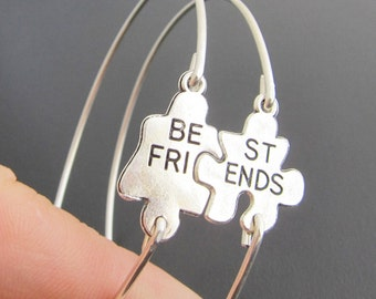 Anniversary Gift for Best Friend, Puzzle Bracelet Set, 2 Puzzle Piece Bracelets, Bestfriend Gift, Puzzle Piece Jewelry, Puzzle Jewelry
