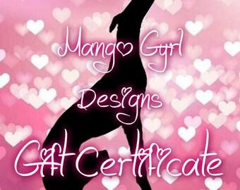 Mango Gyrl Designs Gift Certificate