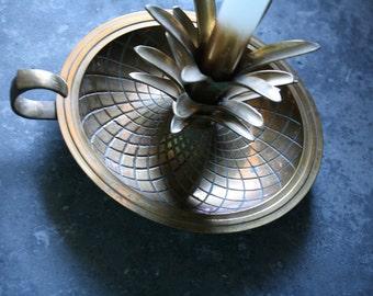 Vintage Pineapple Brass Candle Holder