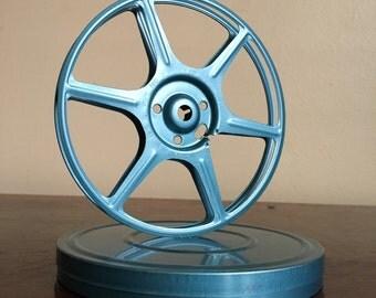 Vintage Blue Film Reel.