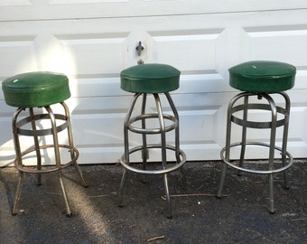 Authentic Vintage New Jersey Diner Stools.