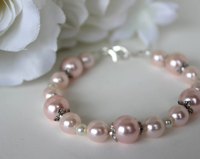 Baby Pink Bridesmaids Bracelet.