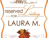 Falling In Love Hand Cut Maple Leaf Wedding Invitation Sets... Reserved for Laura M.