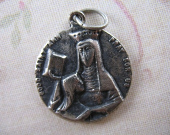 Vintage Saint Ann Medal Vintage Religious Jewelry Saint Jean Baptiste Church New York V20